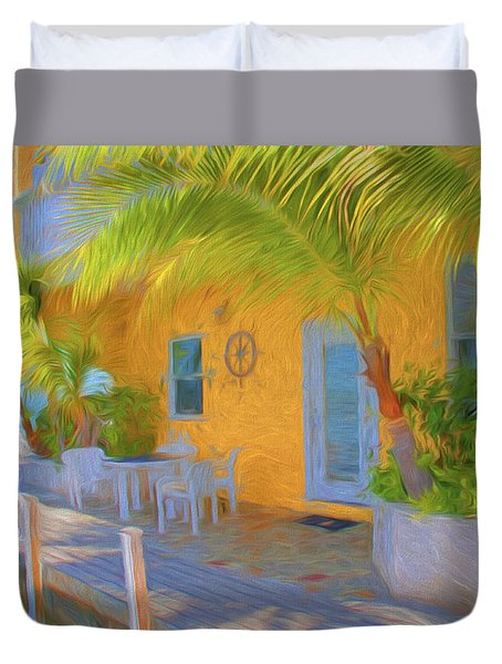 Sunset Villas Waterfront Apartment Duvet Cover