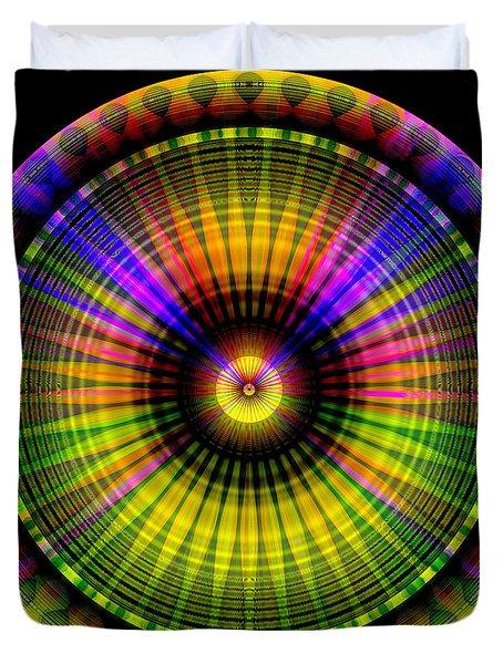 Duvet Cover featuring the digital art Sunset by Visual Artist Frank Bonilla
