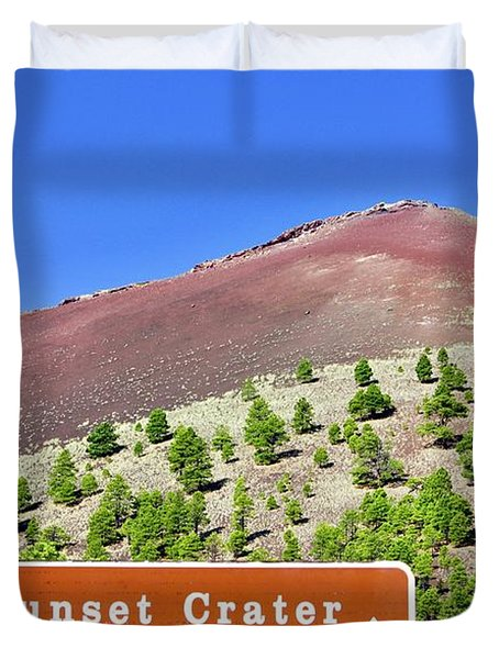 Sunset Crater Volcano Duvet Cover