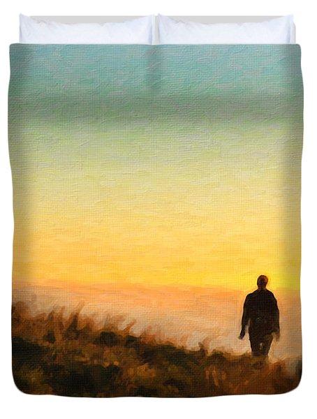Sunset Walk Duvet Cover