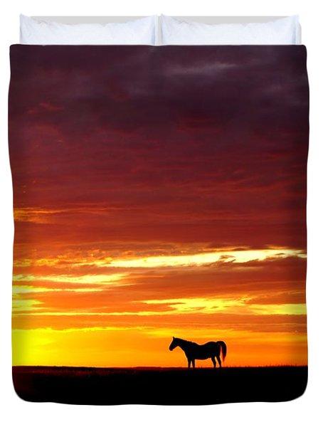 Sunset Watcher Duvet Cover