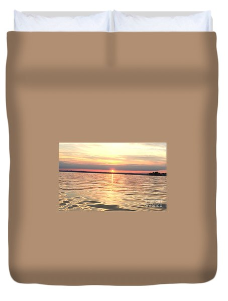 Sunset Water Duvet Cover by Cindy Lee Longhini
