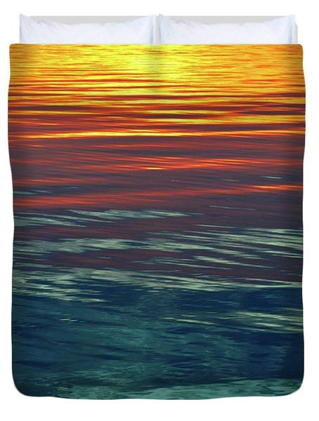 Sunset Water  Duvet Cover
