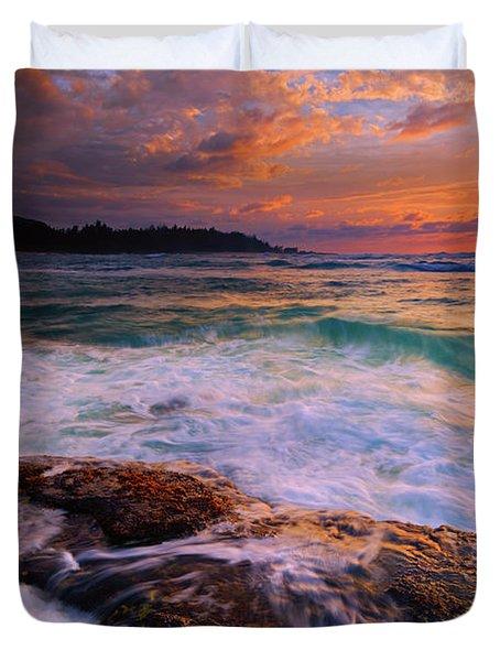 Sunset Wave Curl Duvet Cover