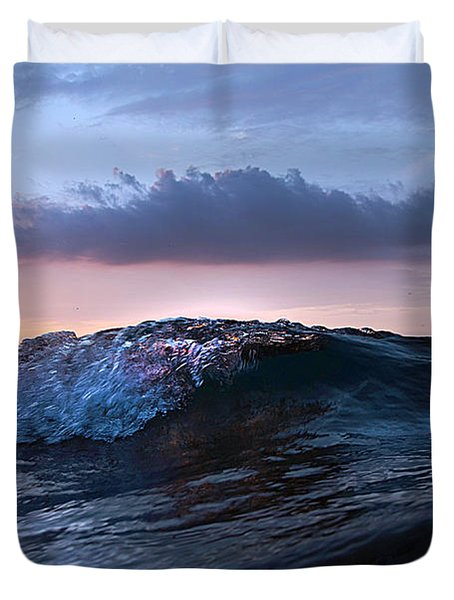 Sunset Wave-wards Beach Duvet Cover