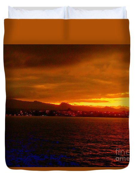 Sunset West Africa Duvet Cover