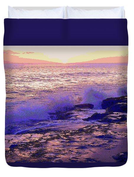 Sunset, West Oahu Duvet Cover by Susan Lafleur