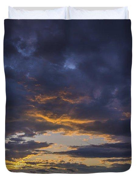 Sunset Western Maine Duvet Cover