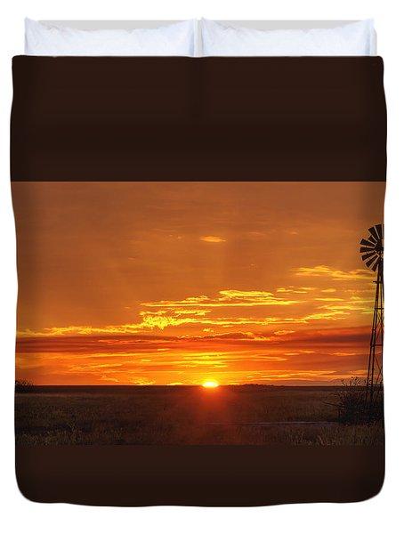 Sunset Windmill 02 Duvet Cover