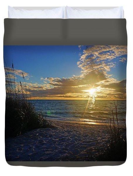 Sunset Windsurfer Duvet Cover
