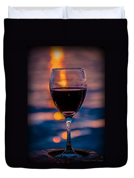 Sunset Wine Duvet Cover