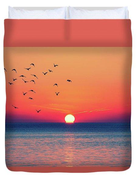 Sunset Wishes Duvet Cover