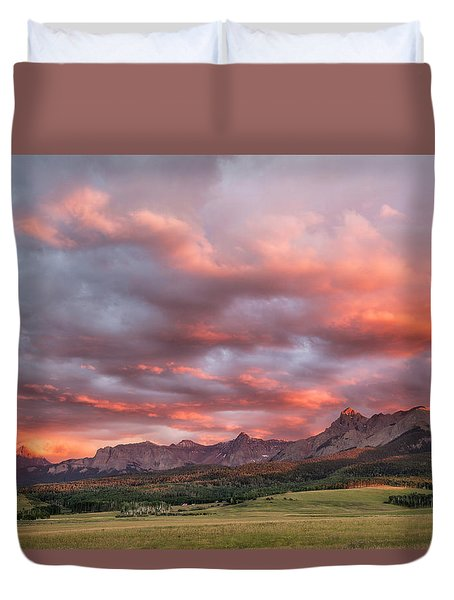 Sunset With Rain Clouds Duvet Cover