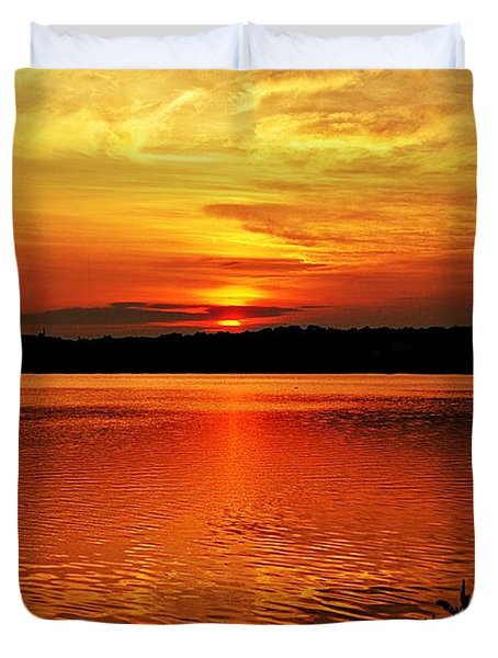 Sunset Xxiii Duvet Cover by Joe Faherty