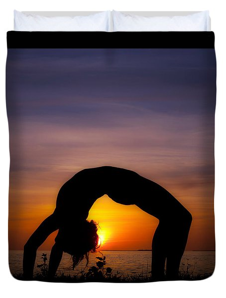 Sunset Yoga Duvet Cover
