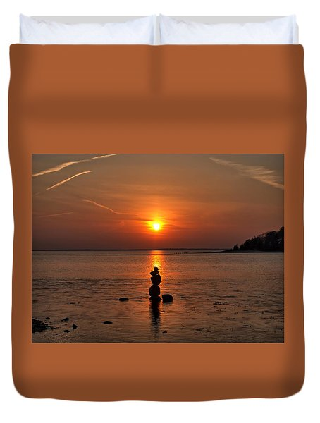 Sunset Zen Duvet Cover