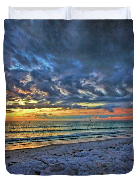 Sunsets And Sandcastles Duvet Cover