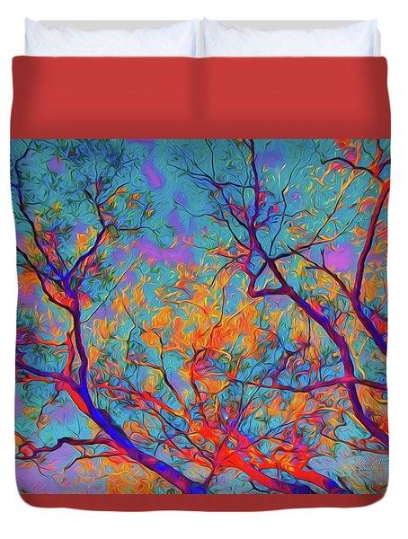 Sunsets Embrace Duvet Cover
