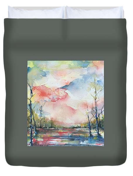 Sunsets Grace On The River Duvet Cover