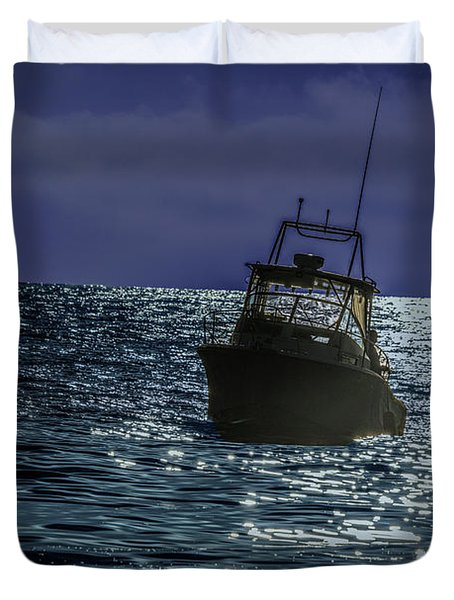 Sunsetting On Fisher Betting Duvet Cover