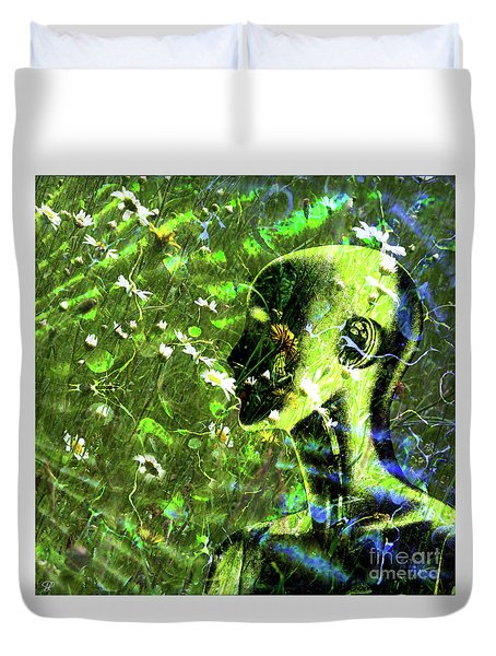 Duvet Cover featuring the photograph Sunshine And Daisies by LemonArt Photography