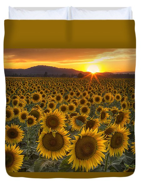 Sunshine And Happiness Duvet Cover