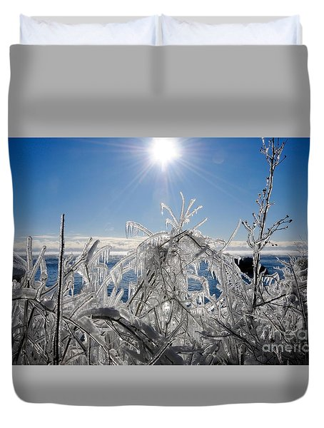 Sunshine And Ice Duvet Cover