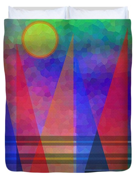 Sunshine And Sailing Duvet Cover by Kathleen Sartoris