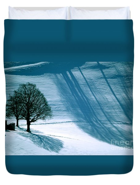 Duvet Cover featuring the photograph Sunshine And Shadows - Winterwonderland by Susanne Van Hulst