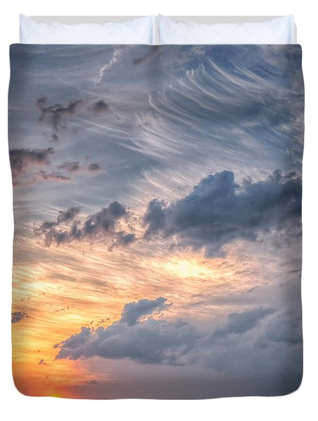 Sunshine And Storm Clouds Duvet Cover