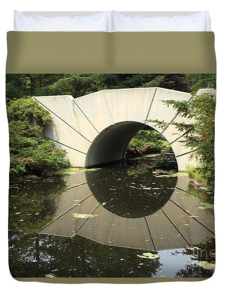 Sunshine Brige Reflection Duvet Cover by Erick Schmidt