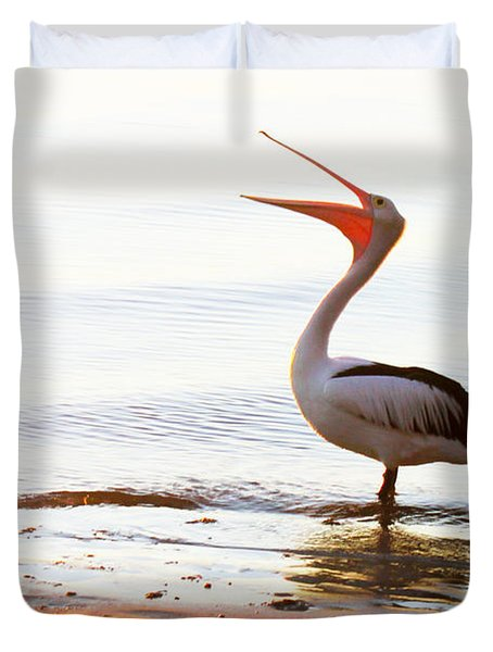 Sunshine Coast Pelican Duvet Cover