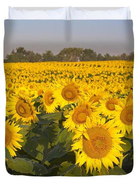Sunshine Flower Field Duvet Cover