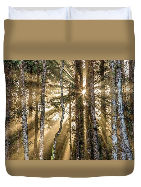 Sunshine Forest Duvet Cover