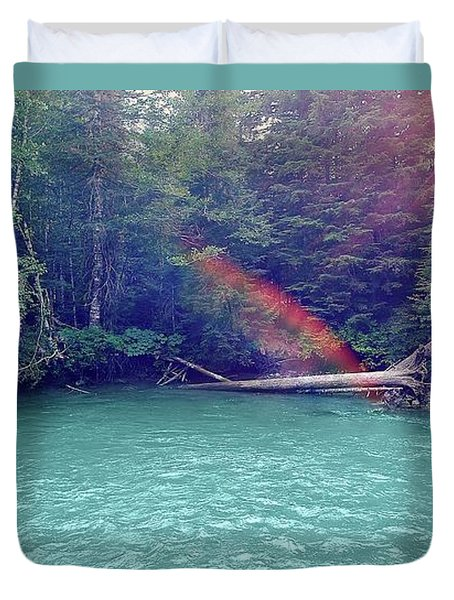 Sunshine Lagoon Duvet Cover