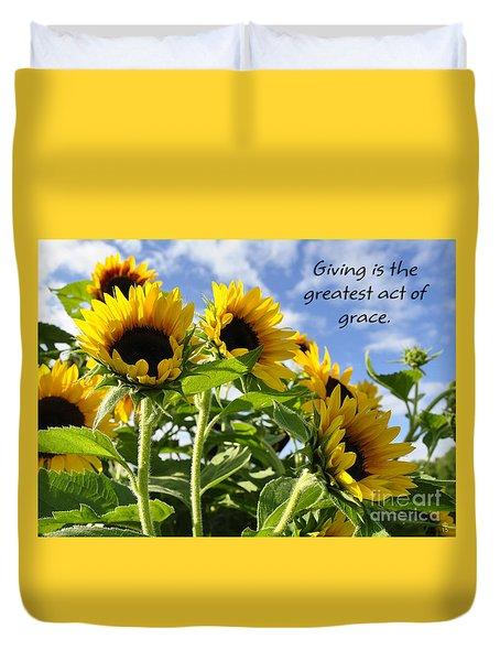 Duvet Cover featuring the photograph Sunshine Lollipops Grace by Diane E Berry