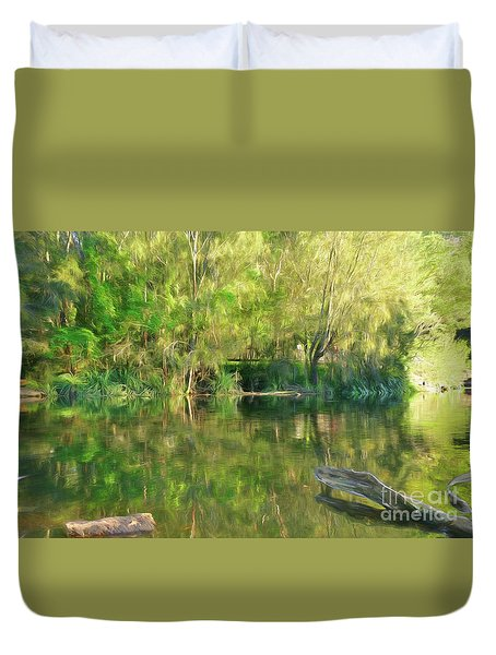 Duvet Cover featuring the photograph Sunshine On Nature By Kaye Menner by Kaye Menner