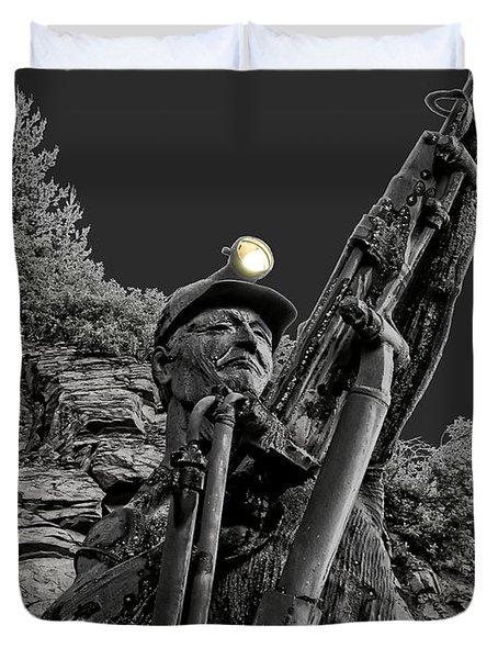 Sunshine Silver Mine Memorial - Kellogg Idaho Duvet Cover by Daniel Hagerman