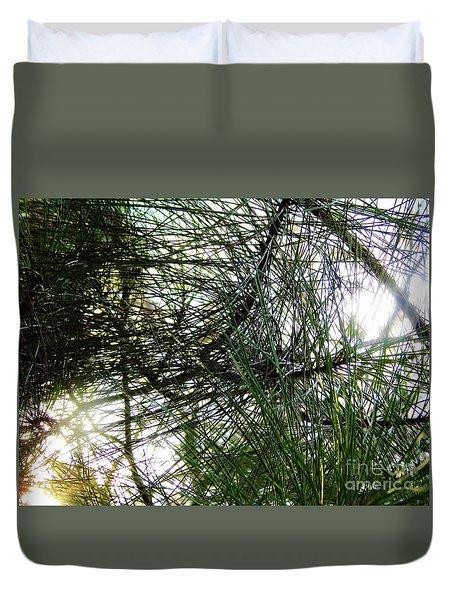 Sunshine Through Pine Needles Duvet Cover
