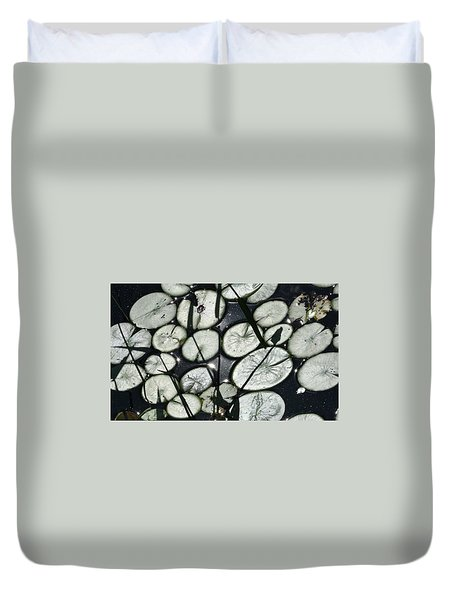 Sunsilvered Lily Pads Duvet Cover