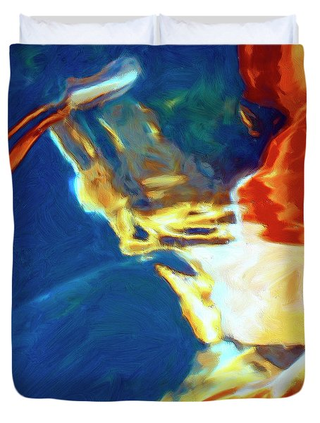 Duvet Cover featuring the painting Sunspot by Dominic Piperata