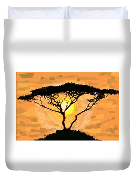 Suntree Duvet Cover