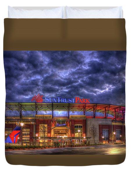 Suntrust Park Unfinished Atlanta Braves Baseball Art Duvet Cover