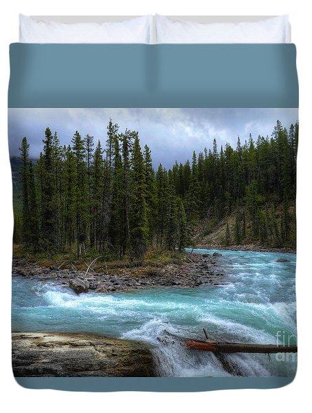 Sunwapta Falls Jasper National Park Alberta Canada Duvet Cover