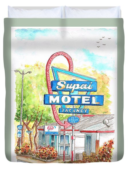 Supai Motel In Route 66, Seliman, Arizona Duvet Cover