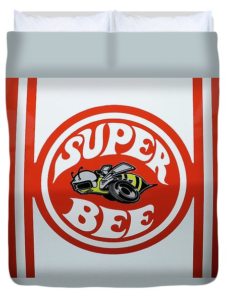 Duvet Cover featuring the photograph Super Bee Emblem by Mike McGlothlen