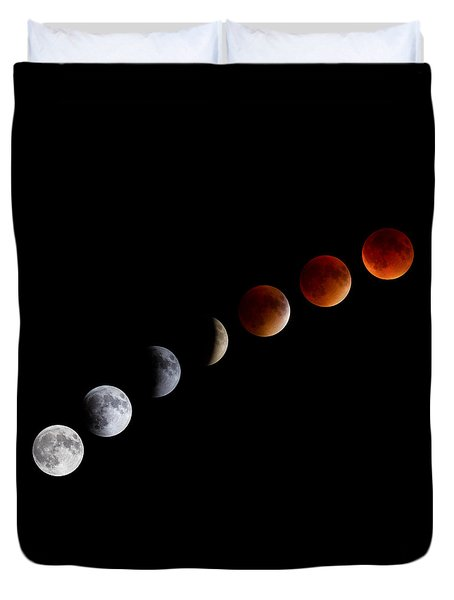 Super Blood Moon Eclipse Duvet Cover