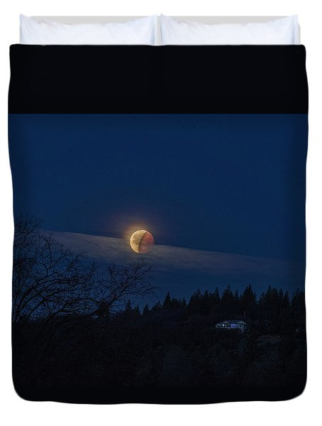 Super Blood Moon Duvet Cover