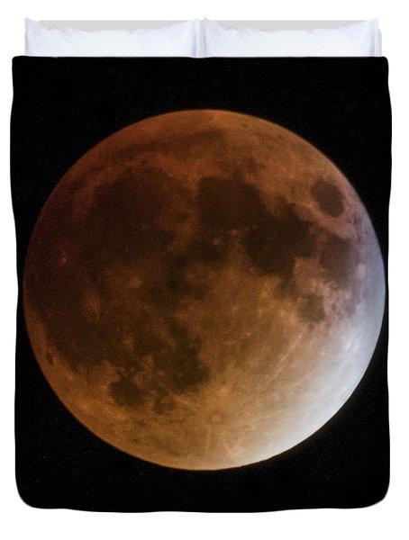 Super Blood Moon Lunar Eclipses Duvet Cover