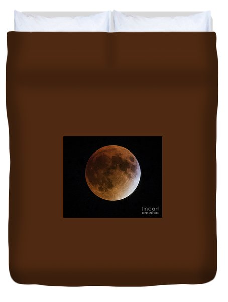 Super Blood Moon Lunar Eclipses Duvet Cover